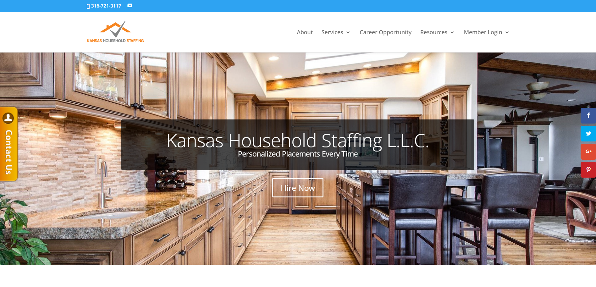 Kansas Household Staffing website
