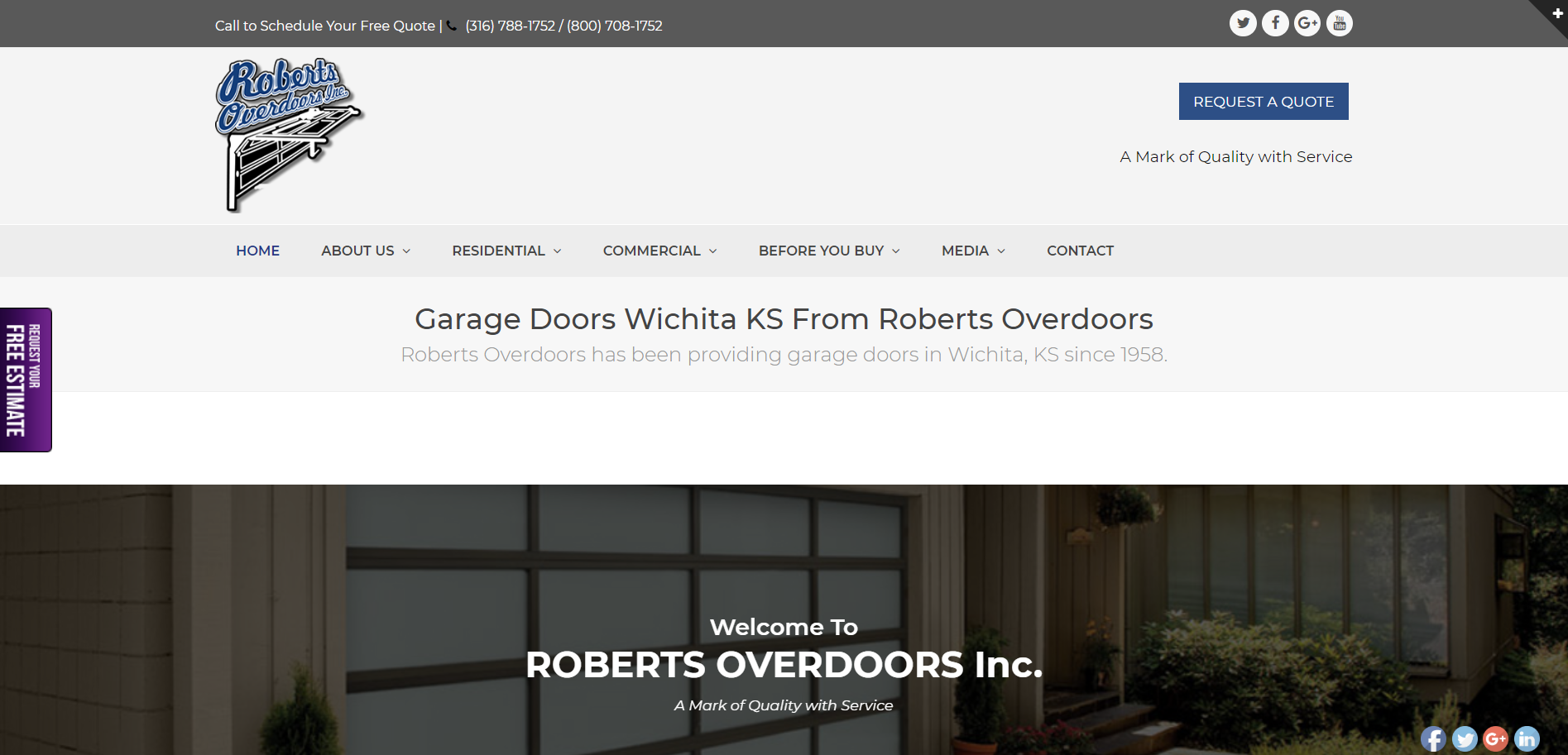 Roberts Overdoors website