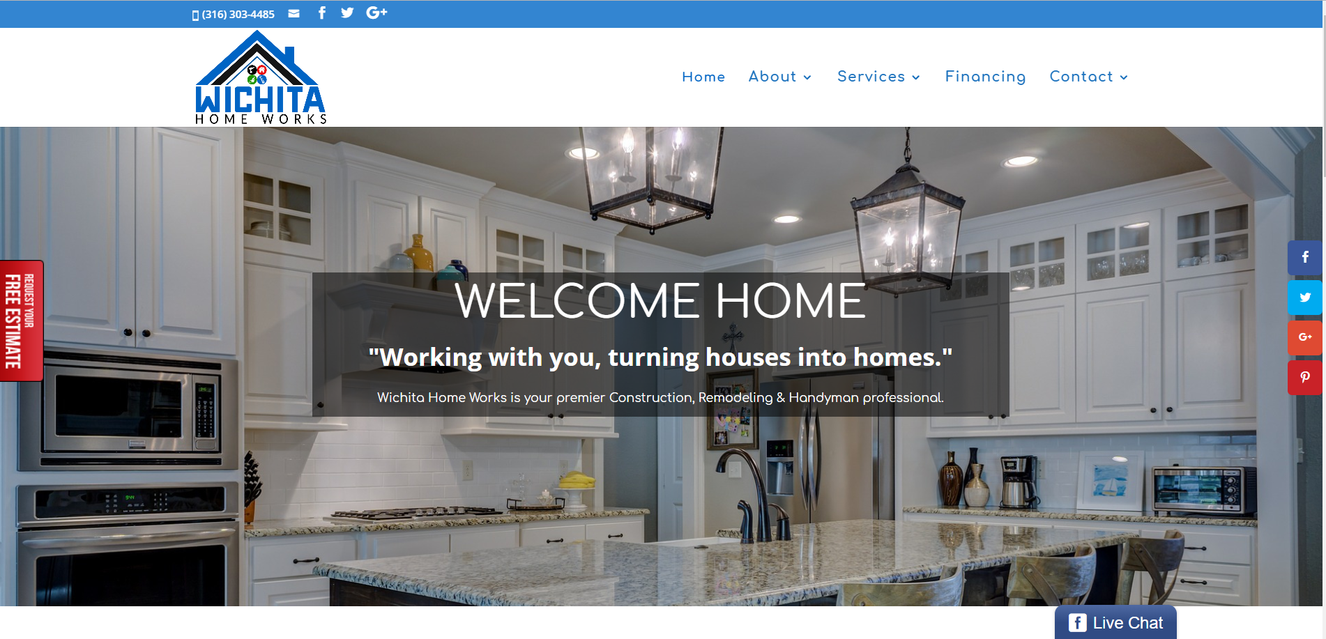 Wichita Home Works website