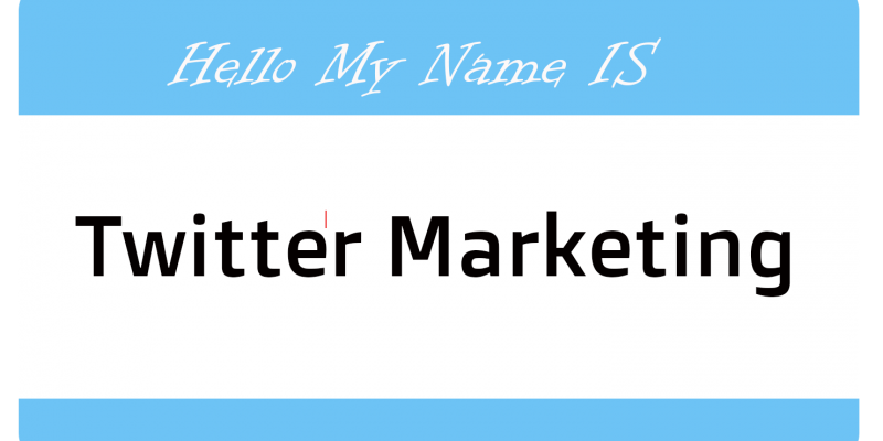 Twitter Marketing 101